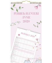 Perhekalenteri 2020 Annie 220 x 430 mm  Burde