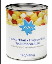 X-tra Hedelmäcocktail sokeriliemessä 820/480 g