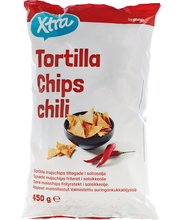 X-tra Tortilla chips chili 450 g