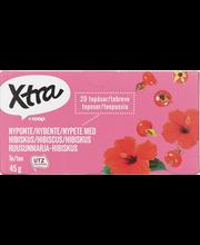 Ruusunmarja-hibiskus tee 45g, 20 ps
