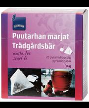 Rainbow Puutarhan marjat musta tee 34 g, 20 pyramidipussia