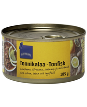 Tuna flakes with Lemon, Sesame & Ginger. Skipjack 185.00 gram