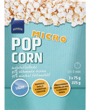 Micro Popcorn salt 3-pack 0% added fat 225.00 gram