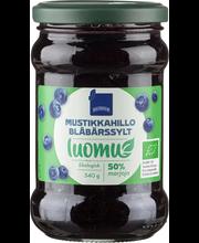 Blueberry Jam Organic 340.00 gram