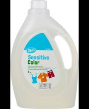 Xtra 2l Sensitive Color pyykinpesuneste värillisille tekstiileille