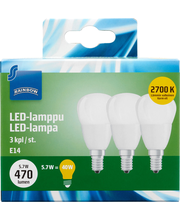 Rainbow LED bulb small, E14, P40, 470LM, 2700K (3pcs) 3 H87