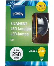 Rainbow LED Bulb small E14, P25, 250LM, 2700K (Filament) 1 H87