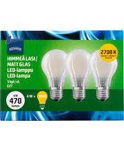 LED-lamppu 4W E27 3kpl