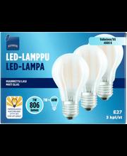 LED-lamppu 7W E27 3kpl