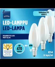 LED-lamppu 4W E14 3kpl
