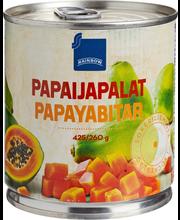 Papaya chunks in LS   ...