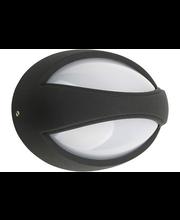Heat LED Oval ulkovalaisin IP44 musta