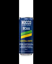 Nocco BCAA 330ml Carnival aminohappoja, kofeiinia ja vitamiineja sisältävä hiilihapotettu juoma