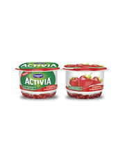Danone Activia 2x120g luonnonjogurttia ja mansikkaa