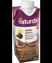Naturdiet 330ml suklaa-banaani shake