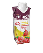 Naturdiet 330ml banaani&mansikka smoothie