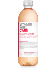 Vitamin Well 500ml Care KMP, punaisen greipin makuinen, vitaminoitu hiilihapoton juoma