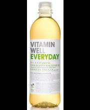 Vitamin Well 500ml Everyday KMP, vihreän omena makuinen, vitaminoitu hiilihapoton juoma