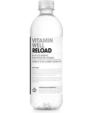 Vitamin Well 500ml Reload KPM, sitruunan & limen makuinen, vitaminoitu hiilihapoton juoma