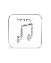 Happy Plugs Earbud nappikuulokkeet, Silver