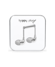 Happy Plugs in-ear nappikuulokkeet, Silver