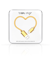 Happy Plugs micro-USB / USB kaapeli 2M GOLD