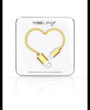 Happy Plugs micro-USB/USBkaapeli2M GOLD