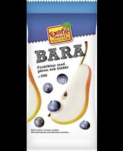 Exotic Snacks Bara 55g päärynä & mustikka