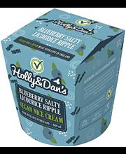 Holly&Dan´s 600ml Blueberry Liqourice Vegaanijäätelö