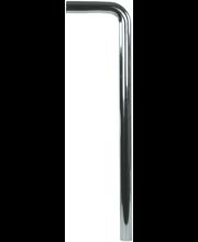 Lattiaputki krom 150x610