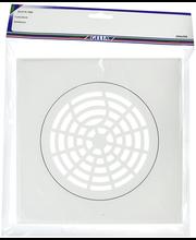 Gelia neliökansi 204x204mm muovia valkoinen