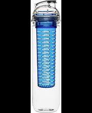 Sagaform Fresh juomapullo hedelmäpatruunalla 80 cl, kirkas/sininen