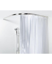 Spirella Ova rondo -suihkuverhotanko 90x90, alumiini