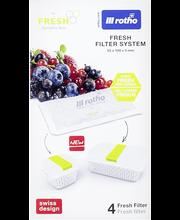 Rotho säilytysrasian suodatin Fresh 4 kpl