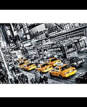 Idealdecor valokuvatapetti  8-osainen Cabs Queue 00116, 8-osainen,366 x 254 cm