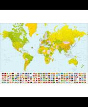 Idealdecor valokuvatapetti World Map 00280, 8-osainen, 366 x 254 cm