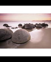 Idealdecor valokuvatapetti Moeraki Boulders 00285, 8-osainen, 366 x 254 cm