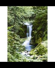 Idealdecor valokuvatapetti Waterfall in Spring 00364, 4-osainen, 183 x 254 cm
