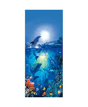 Idealdecor ovikuva Dolphin in the Sun 00513, 1-osainen, 86 x 200 cm