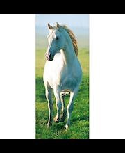 Idealdecor ovikuva White Horse 00514, 1-osainen, 86 x 200 cm