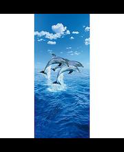 Idealdecor ovikuva Three Dolphins 00599, 1-osainen, 86 x 200 cm