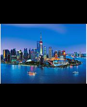 Idealdecor valokuvatapetti Shanghai Skyline 00135, 8-osainen, 366 x 254 cm