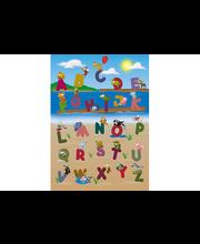 Idealdecor valokuvatapetti Animal Alphabet 00383, 4-osainen, 183 x 254 cm