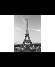 Idealdecor valokuvatapetti La Tour Eiffel 00386, 4-osainen, 183 x 254 cm mustavalkoinen