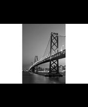 Idealdecor valokuvatapetti San Francisco Skyline 00387,  4-osainen, 183 x 254 cm mustavalkoinen