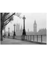 Idealdecor valokuvatapetti London Fog 00142, 8-osainen, 366 x 254 cm mustavalkoinen