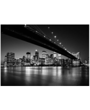 Idealdecor valokuvatapetti Brooklyn Bridge NY 00140, 8-osainen, 366 x 254 cm mustavalkoinen