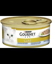 Gourmet 85g Gold Delicatesse Merikalaa pinaatti-béchamelkastikkeessa kissanruoka