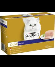 Gourmet 12x85g Gold Mousse lajitelma 4 varianttia kissanruoka
