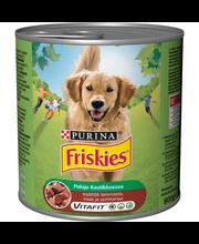 Friskies 800g Lammasta, Riisiä ja Porkkanaa kastikkeessa koiranruoka